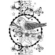 CI-515 - 'Nesting Instinct' Art Rubber Stamp, 96mm x 137mm