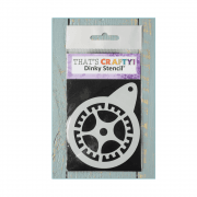Must Haves - 'Round Dinky Stencil, Cog', 75mm x 95mm