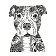 CI-522 - 'Happy Dog' Art Rubber Stamp, 96mm x 117mm