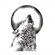 CI-528 - 'Howling Wolf' Art Rubber Stamp, 68mm x 96mm