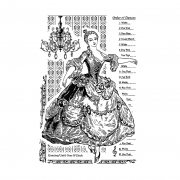 CI-346 - 'Dancing until 1 O'Clock' Art Rubber Stamp, 66mm x 100mm