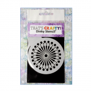 Must Haves - 'Round Dinky Stencil, Decorative Petals', 75mm x 95mm