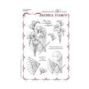Must Haves - 'Chocolate Baroque Freesia Blueprint, Grey Rubber Art Stamp Set' A5