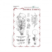 Must Haves - 'Chocolate Baroque Sweetpeas Blueprint, Grey Rubber Art Stamp Set' A5