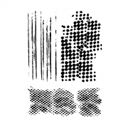 CI-542 - 'Mismesh' Art Rubber Stamps, 96mm x 137mm