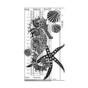 CI-548 - 'Under the Sea' Art Rubber Stamp, 68mm x 125mm