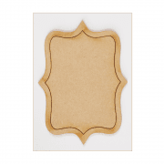 Must Haves - 'Decorative Laser Cut MDF Oblong Shaped Frame' 72mm x 100mm