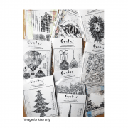 Mystery Bundle of Mounted Crafty Individuals Rubber Art Stamps x 6 per bundle