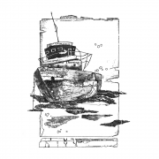 CI-559 - 'Of the Sea' Art Rubber Stamp, 103mm x 136mm
