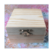 Must Haves - 'Square Wooden Jewellery Box' 85mm x 85mm x 64mm