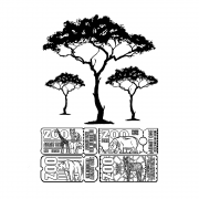 CI-561 - 'Ticket Tree' Elements Art Rubber Stamps, 96mm x 137mm