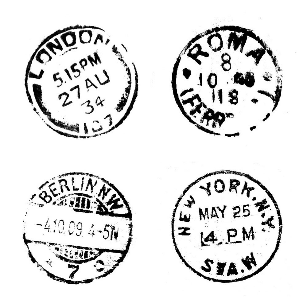 Crafty Individuals CI-124 - 'Four Postmarks' Art Rubber ...