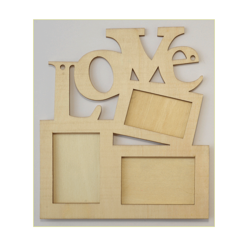 Must Haves - \'Decorative Wooden LOVE Multi Frame\', 166mm x 191mm ...