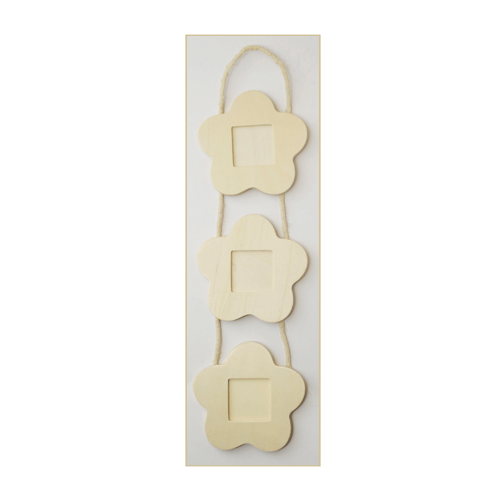 Must Haves Decorative Wood Flower Shaped Hanging Frames 115mm X